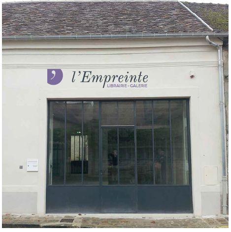 devanture de la librairie-galerie l'Empreinte à Bourron-Marlotte